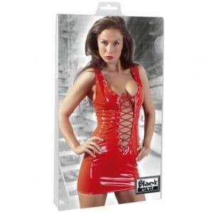 Black Level Punainen PVC-minimekko 3