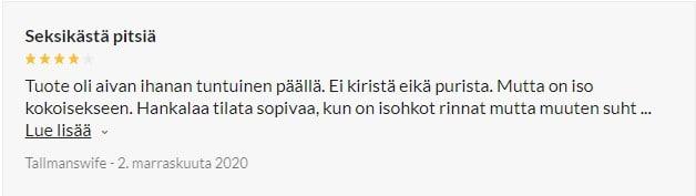 Nortie Vilja Haaraton Pitsinen Body review 1