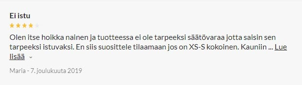 Nortie Vilja Haaraton Pitsinen Body review 2