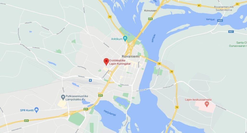 Rovaniemi-map