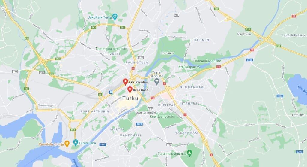Seksikauppa Turku map